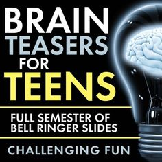 Time to add some challenging fun to your classroom routine with Brain Teasers for teens! First, give these head-scratchers a try: When you're ready, scroll down for the answers. Now, did you really… Pre class or middle of class brain teasers High School Classroom, Science Classroom, Teaching Science, Teaching Tips, Efl Teaching, Teaching Themes, Creative Teaching, Brain Teasers For Teens, Brain Teasers With Answers