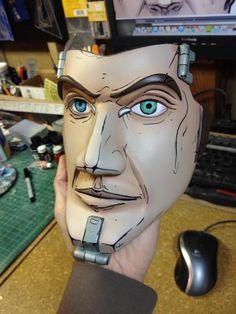 http://punishedprops.com/2012/12/10/borderlands-2-handsome-jack-mask/  Borderlands 2 – Handsome Jack Mask