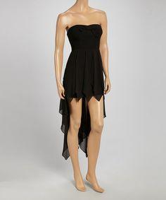 Look what I found on #zulily! Black Strapless Hi-Low Dress by Love Point #zulilyfinds
