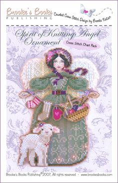 Spirit of Knitting Angel Ornament Chart Pack   $13.00 - Includes Shipping  Includes: 14 count brown & Metallic Silver perforated paper, glass seed beads, tapestry and beading needles, and charted design with complete finishing instructions.