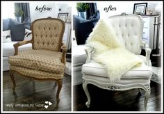 simply vintageous...by Suzan: Oh Yeah ! I forgot my Bergere Chairs !