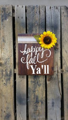 Happy Fall Ya'll rustic pallet wood signs Shabby by MadeByFreckles 12x14
