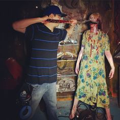 An awesome Virtual Reality pic! Killing zombies & making movies! #robzombiesgreatamericannightmare #horror #zombie #blood #gore #movie #scary #scarymovie #cinematic #terror #Halloween #2015 #chicago #setlife #filmmaker #october #hauntedhouse #ghosts #corpse #horrornights #vr #virtualreality #oculus #gopro #gopro360 #warrior #walkingdead #robzombie by jmmedina1 check us out: http://bit.ly/1KyLetq