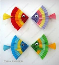 New Animal Art Projects For Kids Preschool Crafts For Preschoolers Ideas Paper Crafts For Kids, Projects For Kids, Paper Crafting, Arts And Crafts, Diy Paper, Paper Art, Sea Crafts, Fish Crafts, Animal Art Projects