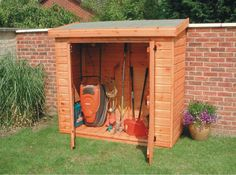 We have a big shed out in the yard for the big stuff, but would love to have a small one like this right beside the house for small tools that we use often.