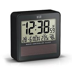 Hito™ atomic radio controlled travel #alarm #clock w/ date, #temperature humidi,  View more on the LINK: http://www.zeppy.io/product/gb/2/161941474771/
