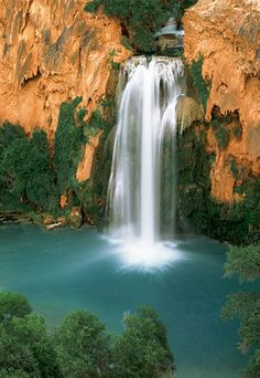 Supai, AZ. Hike two miles past the village of Supai tucked below the rim of Grand Canyon.