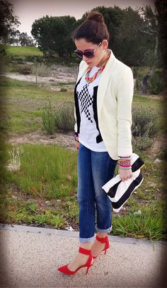 My World Of Rags Oversized Clutch, Zara Shoes, Dkny Sunglasses, Salsa Jeans...    Hype this look @LOOKBOOK.nu