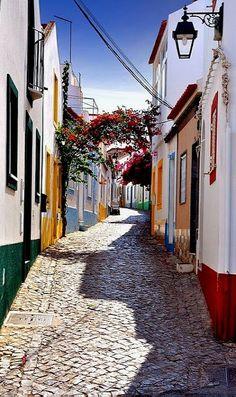 Beautiful picture of a small fishing village Ferragudo, Algarve, Portugal