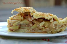 Apple pie with flaky, all-butter pie crust