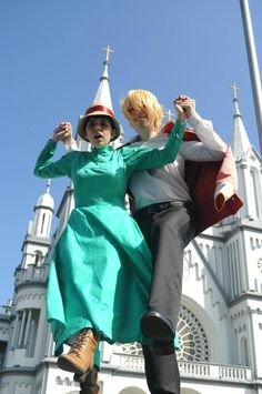 Sky walking - Howl's Moving Castle #Anime #Cosplay