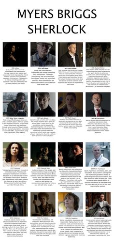 Myers Briggs for BBC Sherlock characters. --not surprised one bit that I got Molly, she is my favorite character. INFP