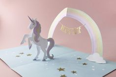 Pop-Up Card 'Unicorn' – faltmanufaktur-Tina Kraus