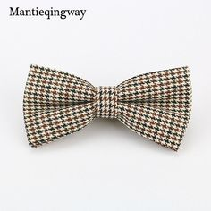 Mantieqingway Classic Designer Plaid Bowties Mens Neckwear Accessories Fashion England Style Polyester Bow Ties for Men Wedding