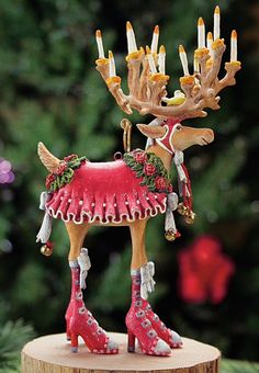 Patience Brewster holiday figurines are chic and whimsical! Product Features Patience Brewster's creative whimsy will transform your holiday decorations! Patience Brewster is widely known for her Krinkles collection. Whimsical Christmas, Noel Christmas, All Things Christmas, Christmas Crafts, Christmas Decorations, Christmas Ornaments, Reindeer Christmas, Reindeer Ornaments, Designer