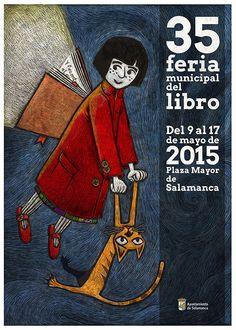 Tomás Hijo se ha encargado del cartel de la 35ª edición de la Feria del Libro de Salamanca.