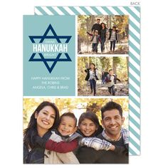 Lagoon Star of David Hanukkah Photo Cards