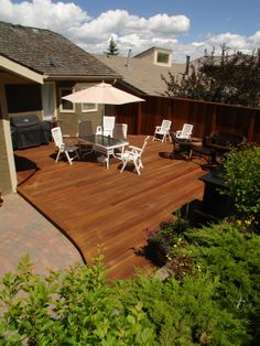 Kayu Canada's exotic hardwood decking will create the perfect paradise.
