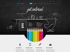 Get Colored - Radium - @Portfolio Qiushid Qiushid by Cosmin Capitanu #webdesign #inspiration