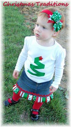 easy christmas tree applique