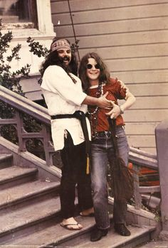 Pig Pen and Janis Joplin outside the Dead's house, Haight Ashbury