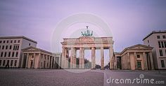 Brandeburg gate at dawn, Berlin, Germany