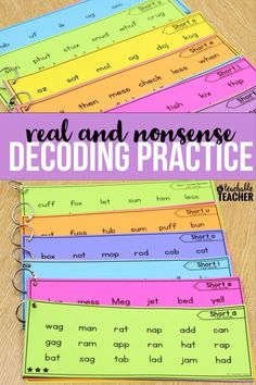Decoding drills for reading fluency. teaching reading  with real words and nonsense words fluency activities | struggling readers | reading activities | kindergarten reading | first grade reading | printable reading activities | teaching hacks | 2nd grade reading