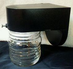 Vtg UL Universal Laboritories Exterior Porch Jelly Jar Light Max 60w lamp sconce