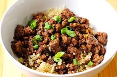 15-Minute Korean Beef and Quinoa Bowl