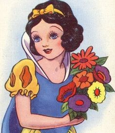 vintage Disney Snow White art