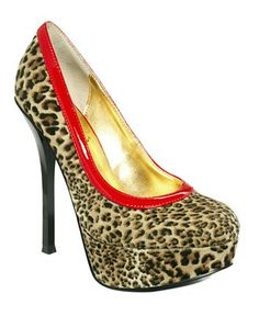 Baby Phat Shoes, Cece Platform Pumps in Red Animal