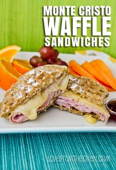 Monte Cristo Waffle Sandwiches by @Christi Spadoni | Love From The Oven