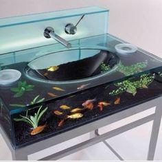 Awesome fish tank sink!!!!