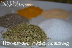 My homemade Adobo seasoning blend captures all the flavors of the bottled stuff, without any unnecessary additives like MSG! Homemade Sazon Recipe, Homemade Seasonings, Homemade Food, Homemade Spices, Sazon Seasoning, Seasoning Mixes, Spice Blends, Spice Mixes, Raw Food Recipes