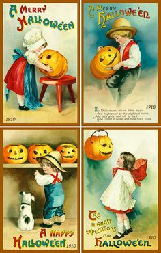 Olde America Antiques | Quilt Blocks | National Parks | Bozeman Montana : Halloween - Halloween Set 9