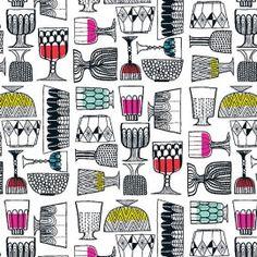 KIPPIS Upholstery Fabric by Marimekko - eclectic - upholstery fabric - - by Textile Arts Marimekko Wallpaper, Marimekko Fabric, Textile Patterns, Print Patterns, Textiles, Textile Prints, Graphic Patterns, Baby Patterns, Scandinavian Fabric