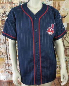 cb06c6a0558 Cleveland Indians Vintage Starter Jersey MLB Baseball Alternate Rawlings  Mens L. Zulu Bravo Sports