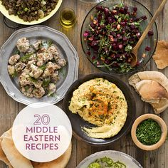 Turkish, Lebanese and other Middle Eastern flavors star in these healthy recipes for appetizers, dinner, side dishes and more. Try the best hummus we've ever made, slow-roasted tomato sauce (Matbucha), cauliflower salad with walnuts and more with these healthy favorites.
