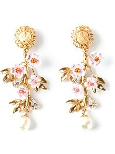 DOLCE and GABBANA Embossed Detail Earrings