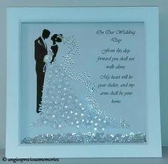 Personalised Deep Box Frame Wedding Anniversary Mr Mrs Gift Print