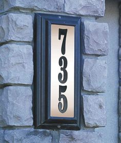 Edgewood Lighted Address Plaque Vertical House Sign Numbers
