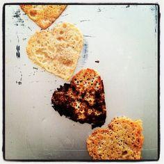 Parmesan Heart Crisps. FOR LOVE.