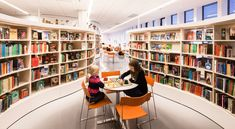 View the full picture gallery of Gothenburg City Library Library Pictures, Personal Storage, City Library, Brick And Wood, Modern Library, Glass Facades, Gothenburg, Learning Spaces, New City