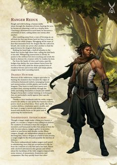 DnD 5e Homebrew — Ranger Redux by Smyris