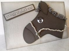 Handmade horse card using Stampin' Up!'s Holiday Stocking Bigz Die.