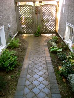 I wonder if my landlord would let me do this...the side yard sucks! This would make it so pretty!