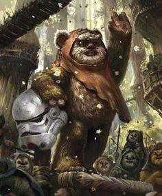 Something to Look Forward To - Star Wars Ewok - Ideas of Star Wars Ewok - Something to Look Forward To Finn Star Wars, Star Wars Rpg, Star Wars Fan Art, Star Trek, Images Star Wars, Star Wars Pictures, Cuadros Star Wars, Star Wars Drawings, Star Wars Girls