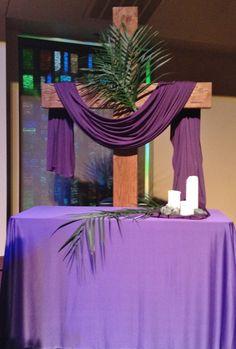 GAUMC Worship Center Palm Sunday Altar 2014