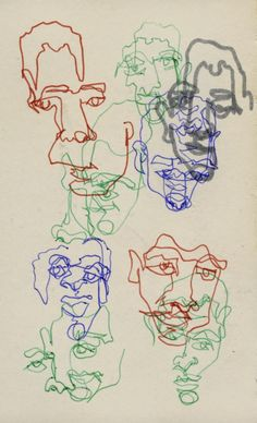 Blind contour drawings – Koosje The artist uses the same face shape but with different colors. He never lifts up his pencil and Thee for it morphs the pictures. This will effect my art by considering drawing in one line. Line Drawing Artists, Blind Contour Drawing, Contour Drawings, Line Artist, Art Sketches, Art Drawings, Drawing Faces, Face Line Drawing, Dress Sketches