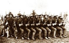 Let's not forget the Buffalo Soliders:   The nickname was acquired during the Indian Wars, but all-black units fought in several American wars until the armed forces were desegregated. Pictured here is the 10th Calvary.